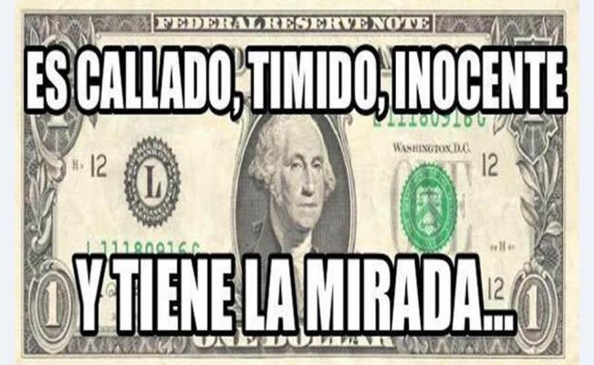 meme billete dolar timido inocente