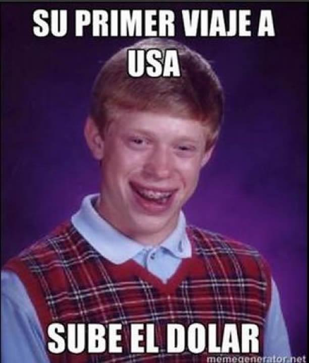 meme dolar sube viaje al extranjero